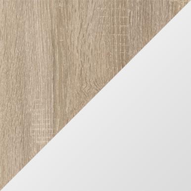 Dąb sonoma + biały połysk