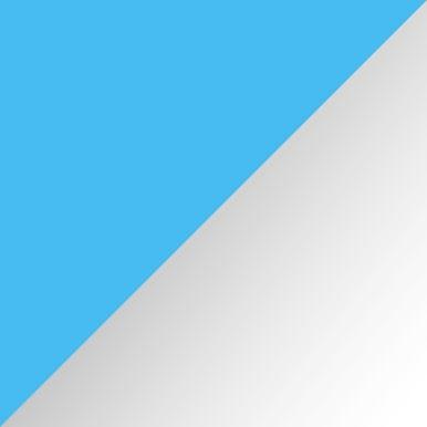 Biały połysk + jasny niebieski