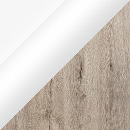 Biały połysk + Dąb San remo