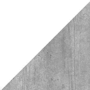 Biały + biały połysk + beton colorado