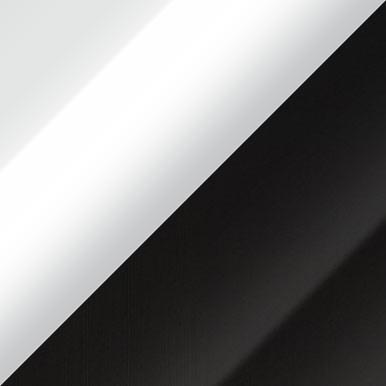 Biały + biały połysk + czarny połysk